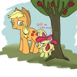 apple_bloom applejack apples comic ponygoggles