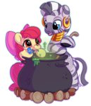 apple_bloom bobdude0 cauldron flowers highres potion zecora