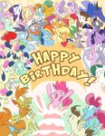 apple_bloom applejack barnacle birthday cake carrot_cake clipper cup_cake derpy_hooves diamond_tiara dinky_hooves egophiliac fluttershy g1 generation_leap gusty lyra_heartstrings milky_way minty pinkie_pie pipsqueak pound_cake powder princess_luna princess_twilight pumpkin_cake rainbow_dash rarity salty scootaloo silver_spoon sliceofponylife snailsquirm snipsy_snap spike sweetie_belle sweetie_drops twilight_sparkle twist