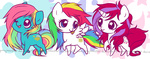 chibi g1 moondancer ponymonster starshine sunlight_(g1)