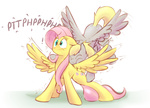 derpy_hooves fluttershy littleivy25 raspberry