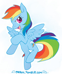 rainbow_dash the-pie