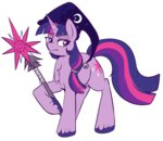 crossover hat lulubellct staff twilight_sparkle wizard