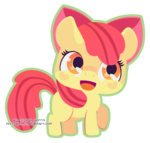 apple_bloom chibi miss-glitter transparent
