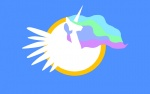 artist_unknown logo princess_celestia simple wallpaper