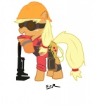 applejack crossover engineer sir_radical team_fortress_2