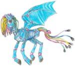 8-xenon-8 rainbow_dash robot species_swap traditional_art