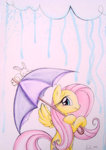 angel fluttershy prettypinkp0ny umbrella