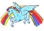 absurdres bloodiestred highres horselike rainbow_dash traditional_art