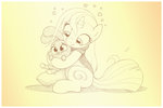 anais_watterson hugs original_character rabbit sherwoodwhisper the_amazing_world_of_gumball traditional_art