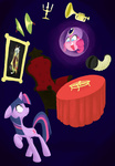 accordion aliasforrent candle crystal_ball cymbals discord pinkie_pie trumpet turban twilight_sparkle