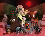 crossover fluttershy insanity south_park willdrawforfood1