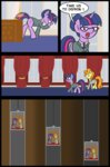 comic desk elevator glasses golden_harvest office pun twilight_sparkle