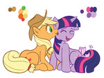 absurdres applejack highres licking mrw32 shipping twilight_sparkle