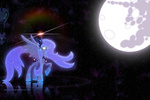 mare_in_the_moon moon nightmare_moon princess_luna the-loneknight wallpaper