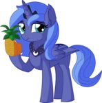 absurdres cyanlightning highres pineapple princess_luna vector