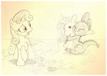 plushie sherwoodwhisper spike sweetie_belle toy traditional_art