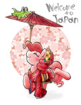 gummy hobilo japan kimono_(clothing) pinkie_pie umbrella