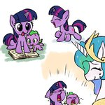 baby baekgup filly princess_celestia spike twilight_sparkle