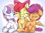 apple_bloom cutie_mark_crusaders highres nobody47 scootaloo sweetie_belle