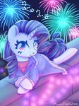 clothes fireworks highres musicfirewind nighttime rarity
