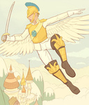 armor canterlot guard_pony highres humanized jakneurotic sword weapon