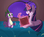 bed book magic spike thenornonthego twilight_sparkle
