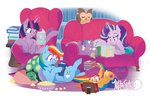 armchair book comic_book justasuta magic owlowiscious pillow popcorn princess_twilight rainbow_dash scootaloo sleeping spike starlight_glimmer tank twilight_sparkle