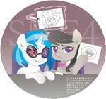 bow_tie glasses hobilo marker octavia_melody sign sunglasses text vinyl_scratch
