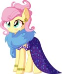 absurdres cyanlightning dress fluttershy highres vector