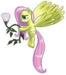 endocentric-soul flowers fluttershy huge_wings pixel_art transparent