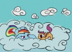 ponygoggles rainbow_dash scootaffection scootaloo