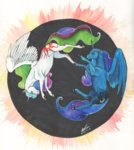 princess_celestia princess_luna sagastuff94 traditional_art