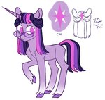 glasses jellybeanbullet redesign twilight_sparkle