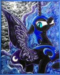 colorsceempainting highres nightmare_moon traditional_art