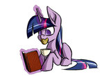 akweer book cookie cup highres magic twilight_sparkle