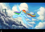 cloud cloudsdale flying jowybean rainbow_dash