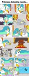 comic derpy_hooves explosion highres magic mail on_fire princess_celestia spengs85