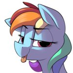 dimfann rainbow_dash tongue