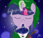 crossover highres link nightgreenmagician ocarina the_legend_of_zelda twilight_sparkle