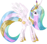 absurdres crystallized highres princess_celestia transparent vector-brony