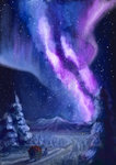 highres plainoasis scenery snow stars the_great_and_powerful_trixie wagon