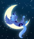 cartoonlion princess_luna slacking_is_magic
