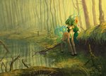 absurdres forest highres koviry original_character trees