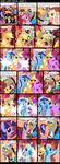 applejack background_ponies band berry_punch bipedal comic crossover discord fluttershy guitar highres i_shall_not_use_my_hooves_as_hands instrument mariachi minuette mixermike622 pinkie_pie q rainbow_dash star_trek trumpet twilight_sparkle violin