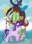 absurdres discord highres princess_twilight spike starlight_glimmer twilight_sparkle up-world
