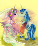 dress entirely_canon imanika kiss princess_cadance shining_armor wedding