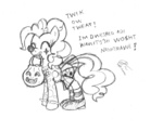 comic costume halloween highres leadhooves pinkie_pie sketch