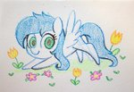 absurdres celebi-yoshi flowers highres original_character traditional_art