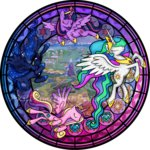 akili-amethyst highres map princess_cadance princess_celestia princess_luna princess_twilight stained_glass twilight_sparkle